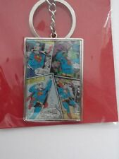 Key Ring - SUPERMAN Rectagle Metal Key Ring B. NEW! COLLECTABLE Comic Book Style