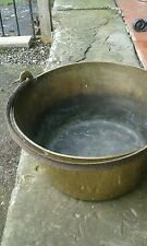 Large brass jam /preserve pot cast iron handle