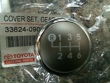 GENUINE TOYOTA YARIS 2012 GEAR KNOB CHROME CAP TOP ONLY 6 SPEED 2012