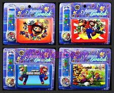 12Sets Super Mario Bros Wristwatch watch and Purses Wallets Sets Children Gifts