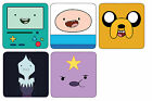 Adventure Time With Finn and Jake Wood Coaster For Mugs/Cups *Free Post*