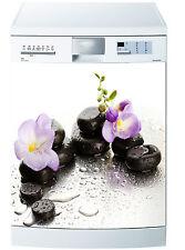 Adesivo lavastoviglie decocrazione cucina elettrodomestici orchidea ref 658