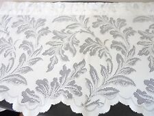 Vintage White Lace Valance Scalloped Edge Romantic Cottage Shabby Chic USA