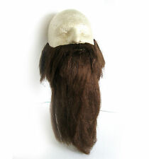 Long Brown Beard & Mustache Hillbilly Dwarf Pirate Party Halloween Costume