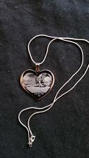personalised Photo Engraved Heart Neclace  - Wedding Birthday Gift  3..