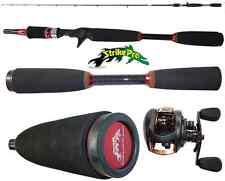 kit bait casting canna 1.80m + mulinello rotante teben pesca luccio bass spigola