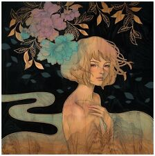 "It Was You Giclee Print by Audrey Kawasaki Signed & Numbered 21.5"" x 21.5"""
