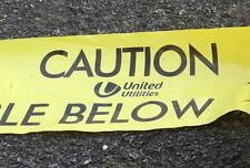10m UNITED UTILITIES LANCASHIRE CAUTION BURIED CABLE BELOW WARNING MARKING TAPE