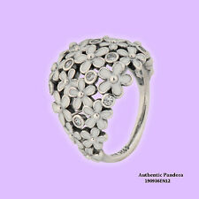 Pandora Ring Darling Daisy Bouquet, White Enamel, 190936EN12-56 Size 7.5 : 56