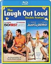 50 FIRST DATES / JUST GO WITH IT BLU RAY  ADAM SANDLER  2 DISC REGION FREE
