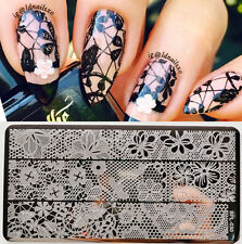 1pc BORN PRETTY Hollow Lace Nail Art Stamping Template Image Plate BP-L030