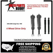 Full Set Dodge Ram1500 (2) Front Complete Struts & 2 Rear Shocks Fits 4WD Only