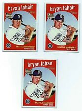 2008 Topps Heritage BASEBALL Bryan Lahair Rookie Card 3 CarD Lot Card #  566