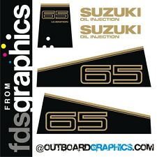 Early 90's Suzuki DT65 outboard engine graphics/sticker kit