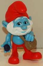 "2011 Papa Smurf 2.75"" Jakks Pacific PVC Plastic Action Figure Movie Toy Smurfs"