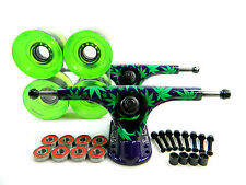 Paris 180mm V2 Amanda Powell Longboard Trucks + Blank 70mm Gel Green Wheels