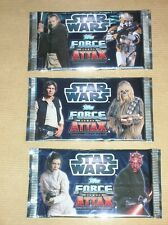 LOT 3 PAQUETS TRADING CARDS STAR WARS TOPPS FORCE ATTAX / HAN SOLO / NEUF