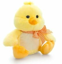 Keel Toys YELLOW CHICK with Spotted RIBBON 18cm - Great Easter Gift