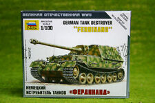 "Zvezda GERMAN TANK DESTROYER ""FERDINAND""  1/100 scale  6195"