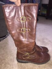 B.O.C Sz 11 Brown Tan Man Made Knee High Boots