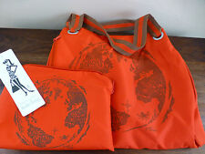 NWT Eco Tote Nordstrom in Red with Zip Away Bag Pouch From Recycled Materials