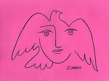 """Pablo Picasso Drawing """"FACE OF PEACE"""""""