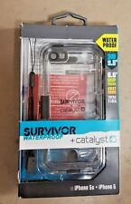 Griffin Survivor Waterproof and Catalyst for iPhone 5 5s Black New