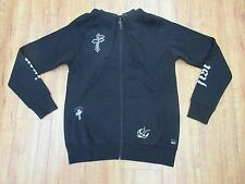 NWT Iron Fist Black Penance Bird Cross Zip Up Hoodie Size: M Medium