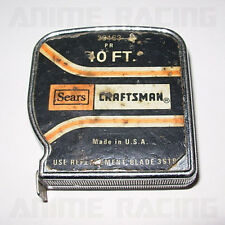 ViNTAGE SEARS CRAFTSMAN TOOLS PR POWER RETURN 10FT METAL MEASURiNG TAPE 39163