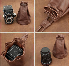 Cowhide leather coffee Pouch for Rolleiflex 2.8F/2.8FX/2.8GX Cam-in 6102A