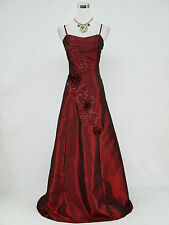 Cherlone Plus Size Red Long Ballgown Bridesmaid Prom Wedding Evening Dress 22