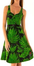 Desigual Green NOIT Sleeveless V Neck Dress Size XXL