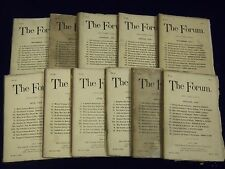1887 THE FORUM MAGAZINE MAGAZINE LOT OF 11 ISSUES - NICE STORIES - ADS - WR 694