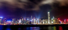 HONG KONG SKYLINE CITYSCAPE POSTER STYLE B 16x36 HI RES