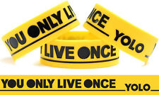 YELLOW YOLO You Only Live Once WRISTBAND Concert Bracelet Free Shipping New