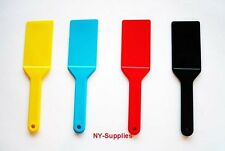 4 pc Colored Ink Spatulas / Knives Used for Multi Color Offset & Screen Printing