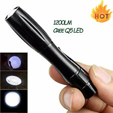 1200LM Powerful Torch Cree Q5 LED Tactical Flashlight AAA Mini Lamp Light Hot