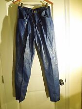 Vintage LVF Ranch The Leather Specialists Blue Leather Pants High-Waisted Small