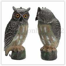 Simulation Owl Bird Hunting Decoy Deterrent Repeller Garden Weed Pest Scarer