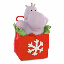 I Want a Hippopotamus for Christmas 2016 Hallmark Ornament Hippo  Gift Bag  Song