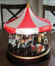 Mr Christmas Gold Label Collection Wooden Classic Carousel, Plays 30 Songs