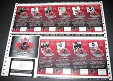 1996 Ottawa Rough Riders Season Tickets CFL Uncut Sheet Canadian Football League
