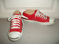 Rare Converse Jack Purcell Women 9.5 Men 7.5 Red Patent Leather Sneaker Shoe