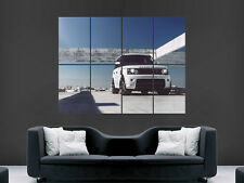 WHITE RANGE ROVER SPORT  IMAGE ART WALL LARGE IMAGE GIANT POSTER
