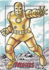 Marvel Avengers Silver Age Sketch Card by Kevin West of Iron Man