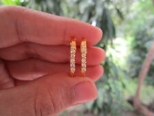 .42 Carat Diamond Yellow Gold Creole Earrings 14K sep013 1212sale