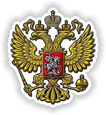 Coat of Arms Russia Sticker for Truck Motorcycle Book PC Tablet Gas Tank Toolbox