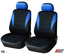 BLUE-BLACK  FABRIC FRONT SEAT COVERS FOR FIAT DOBLO DUCATO IVECO DAILY 1+1 NEW