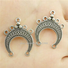 15904*15PCS Antique Silver Vintage Infinity Moon Pendant Connector Charm Alloy