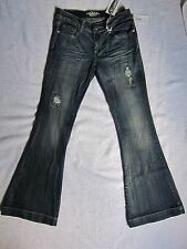 NWT Do Denim Distressed Soft Flare Fit Stretch Jeans size 3 x 32
